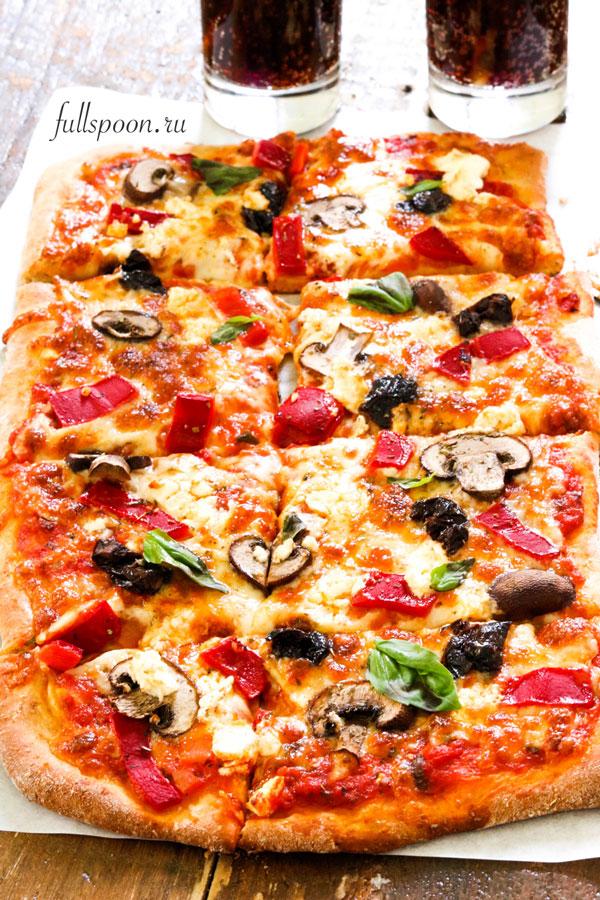 Пицца. Рецепт пиццы. Домашняя пицца
