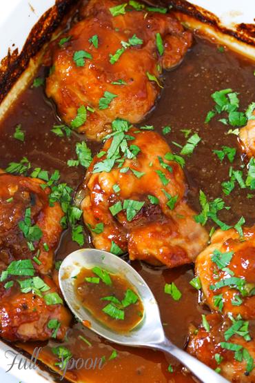 Рецепты с курицей, курица в сладком соусе