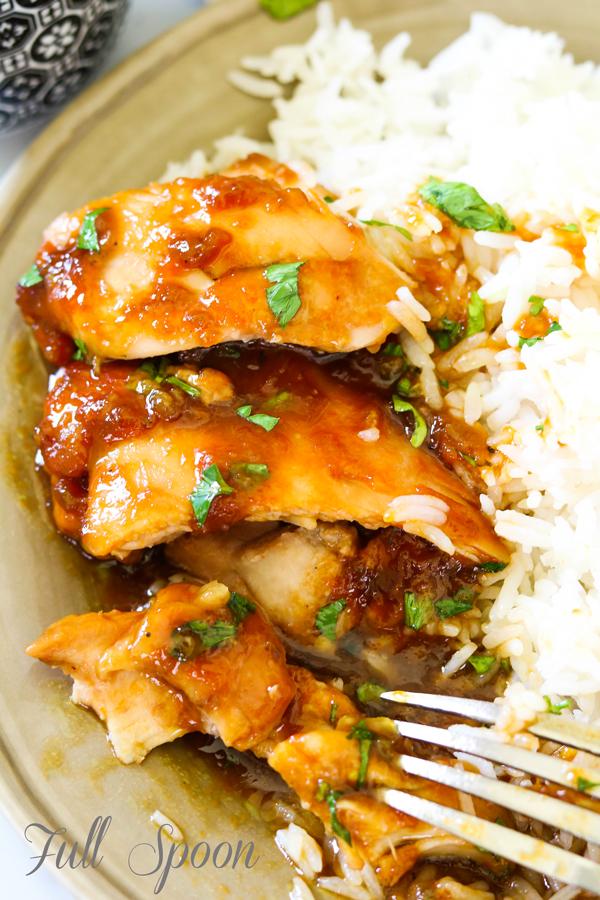 Курица в духовке, курица в сладком соусе, здоровое питание
