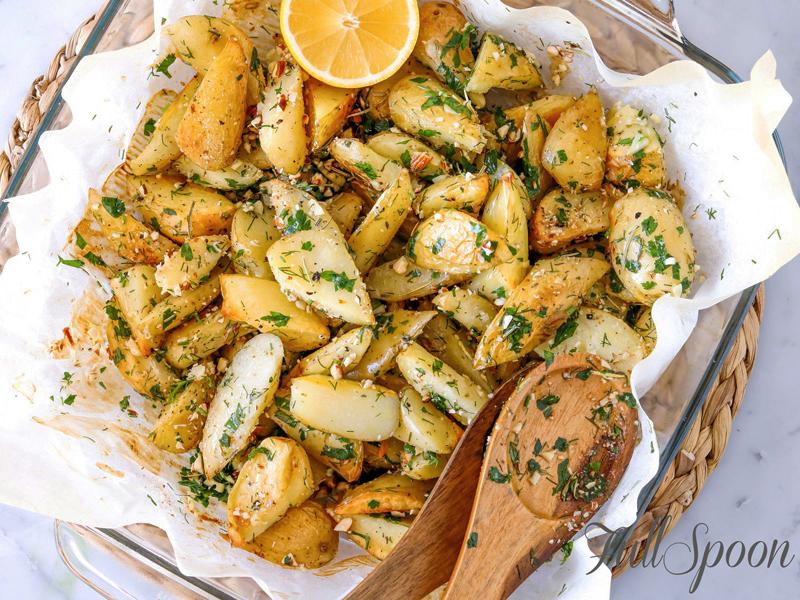 Картофель с миндалем