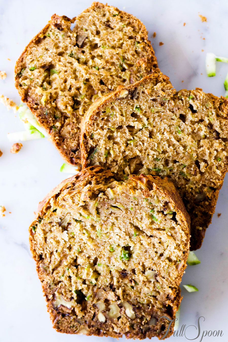 Полезный хлеб c цукини (кабачками)