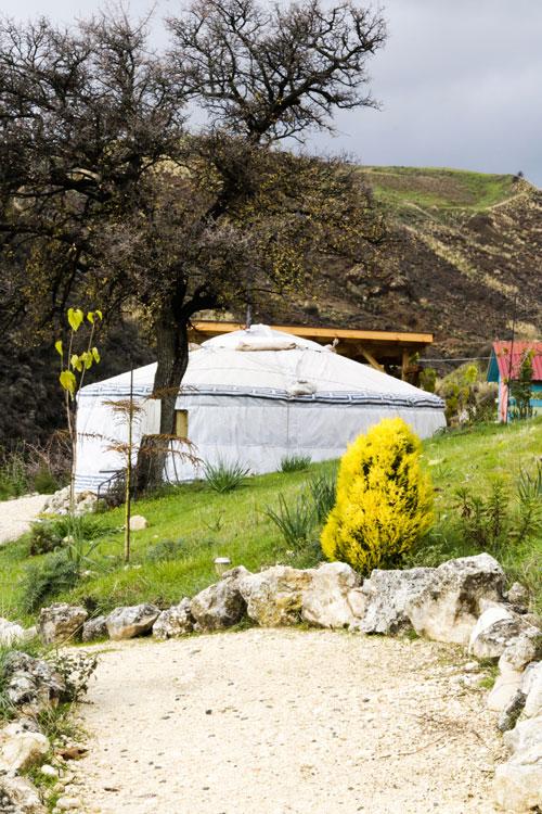 Монгольские юрты на Кипре