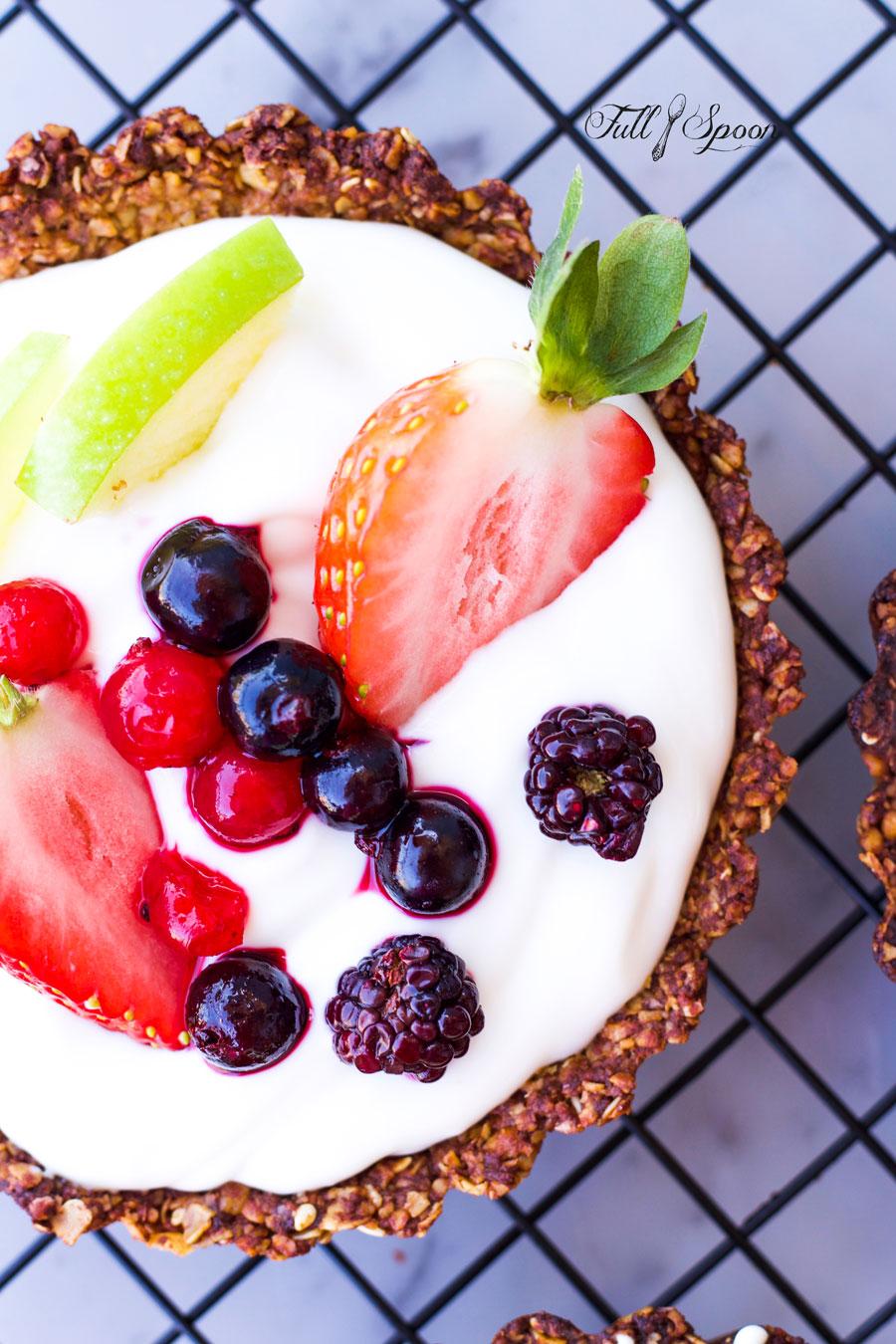 Тарт с греческим йогуртом