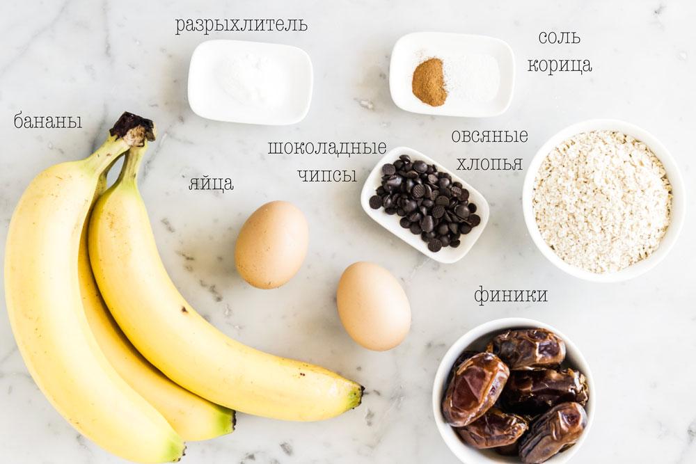 Банановые маффины без муки и сахара